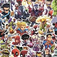 NEW 50 <b>Pcs</b>/<b>Lot</b> Stickers <b>For</b> MARVEL <b>Super Hero</b> DC <b>For</b> Car ...