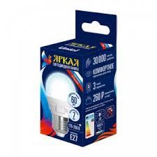 Светодиодная <b>лампа Uniel</b> Яркая (<b>LED</b>-<b>G45</b> 7W/WW/E27/FR ...
