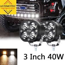 <b>2pcs 40W</b> Led Work Light 12V 24V 3 <b>Inch</b> Driving Lamp Offroad 4X4 ...