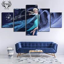 Online Shop 5 Pieces Elsa Frozen Movie Poster <b>Decorative</b> Art On ...