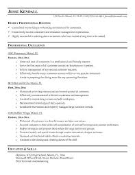serving resumes objective for server resume with food server