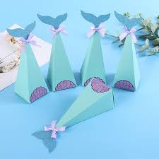 <b>20Pcs</b>/<b>lot</b> DIY Mermaid <b>Gift Bags</b> Kids Birthday Candy Packaging ...