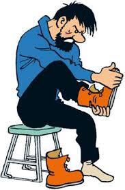 Les Aventures de Tintin - Capitaine Haddock. Ligne claire. Note how ...