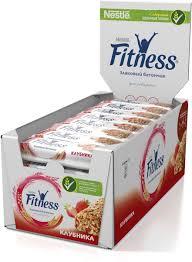 Nestle <b>Fitness батончик</b> с цельными злаками и клубникой, 24 шт ...