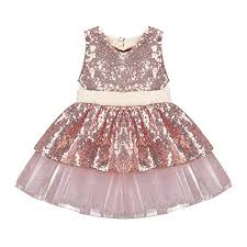 Elegant Toddler Baby Girls Dress Sleeveless Sequins ... - Amazon.com