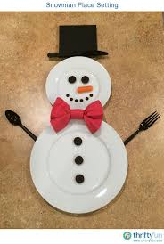 household dining table set christmas snowman knife: spread holiday cheer all the way to the dinner table with a decorative place setting this is a guide about ltigtsnowman place settinglt igt more