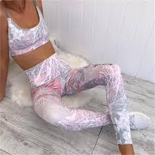 women yoga set printed