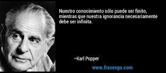 Resultado de imagen de Pensamientos de Karl Popper