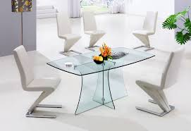 park metal base dining table glass