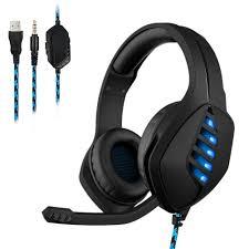 <b>J1</b> 3.5mm Wired Headset <b>Gaming Headphone</b> Lighting Deep Bass ...