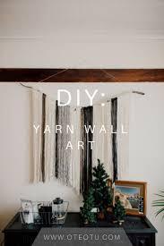 Do It Yourself || Yarn <b>Wall Hanging</b> || Wall <b>Art</b> || Craft Project || Home ...