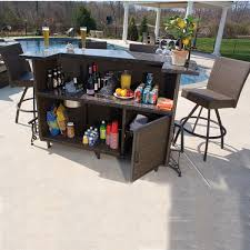 vento outdoor bar and stools patio furniture by alfresco family bar sets home sunco bar furniture sets home
