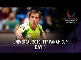 <b>Universal 2019</b> ITTF Pan America Cup   Day 1 - YouTube