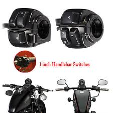 pair motorcycle 1 25mm handlebar control switch motorbike handle bar indicator light wiring harness for harley