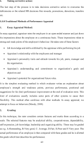 chapter performance appraisal parameters pdf essay appraisal method in essay appraisal appraiser rates the employee in an open