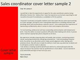 sales coordinator sales coordinator cover letter