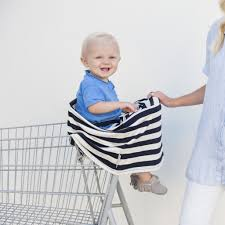 multi use nursing cover classic black and ivory stripe covered covered goods muli use nursing cover shopping cart cover