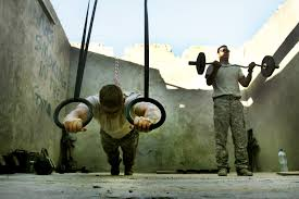 essay on army life   essay topicsu s army staff sgts brian weaver and matt leahart use exercise equipment in a converted