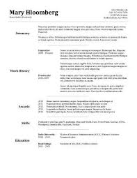 aaaaeroincus marvelous free resume templates best examples for job specific resume templates