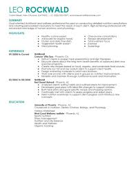 best nutritionist resume example livecareer choose