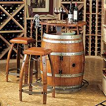 wine barrel outdoor furniture vintage oak wine barrel bistro table amp bar stools alpine wine design outdoor