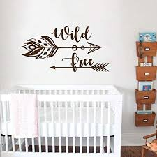 Wild and Free Wall Decal/Arrow Nursery Wall Decal ... - Amazon.com