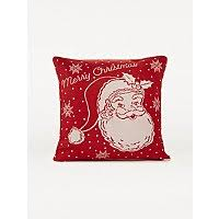 Red <b>Christmas Santa Print</b> Cushion | Home | George at ASDA
