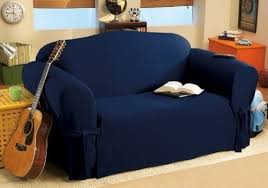 Soft <b>Micro Suede</b> Solid <b>NAVY</b> BLUE <b>Couch</b>/<b>sofa Cover Slipcover</b> ...