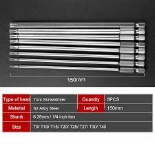 <b>11pcs</b> T6 T40 <b>S2</b> Steel Screwdrivers Kit Hand Tools <b>75mm</b> Length ...