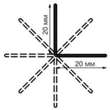 <b>Угол универсальный</b> (гибкий) Rico Leo <b>№</b>112 ясень серый <b>20*20</b> ...