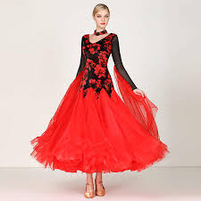 <b>Ballroom Dance</b> Dresses <b>Lady's</b> Short Sleeve Stage Waltz Dancing ...