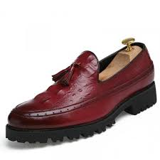 Shoe Crocodile <b>Pointed Head</b> Shoes for <b>Men</b> 37 Wine Red-buy at a ...