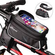 Bike Phone Mount Bag, Bicycle Handlebar Bags, Top ... - Amazon.com