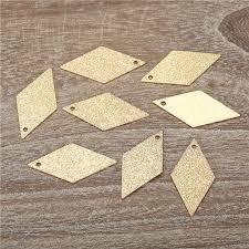 50PCS/lot <b>Geometric</b> Series <b>Prismatic</b> Gold Silver Color Brass ...