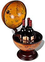 Festnight <b>Tabletop Globe Bar Wine</b> Stand Solid Wood Table Stand ...