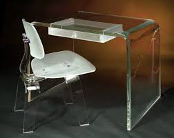 image of acrylic desk and plastic desks and chairs acrylic office desk