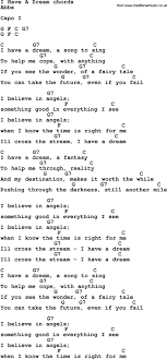 best ideas about i have a dream white song lyrics guitar chords for i have a dream