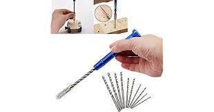 Spiral <b>Hand</b> Drill Semi Automatic Pin Vise <b>Keyless Chuck Manual</b> ...