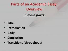 Parts of an Academic Essay