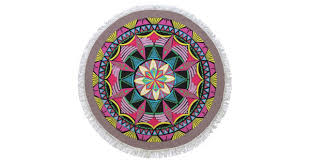 <b>Digital Printed</b> Turkish <b>Round Beach</b> Towel | KocGifts
