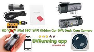 HD 1080P <b>Mini</b> 360° WiFi <b>Hidden Car DVR</b> Dash-Cam review tutorial