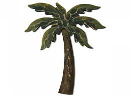 tree scene metal wall art: palm tree wall art palm leaf metal wall art palm tree wall u a z