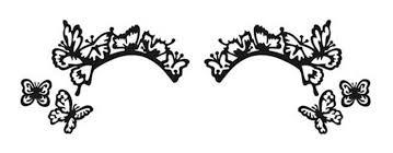 Купить <b>наклейки на глаза</b> butterfleyes eye lace minis black Face ...