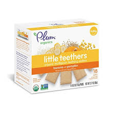 Plum Organics <b>Little Yums Teething</b> Wafers - Pumpkin & Banana ...