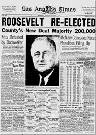 「Roosevelt at the second term, newspapers」の画像検索結果