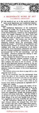 cubism is a degenerate art form i hate cubism people who hate cubism a degenerate work of art the art world 1917