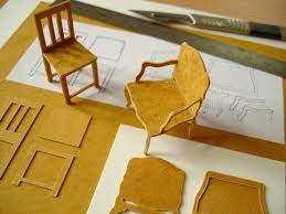 working with stencil card apartment scale furniture