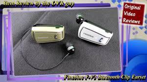 <b>Fineblue</b> F-V3 <b>Bluetooth</b> Clip Earset (Review) - YouTube