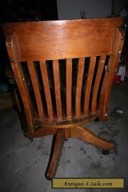 antique oak wood swivel office desk chair for sale antique oak office chair