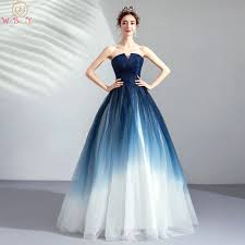 <b>Walk Beside You</b> Navy Blue <b>White</b> Evening Dresses Contrast Color ...